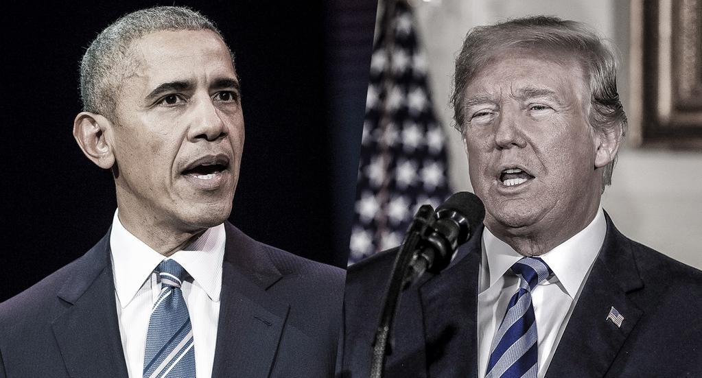 Former President Barack Obama and President Trump. (Photos: Stephane Cardinale—Corbis/Getty Images—Chip Somodevilla/Getty Images)