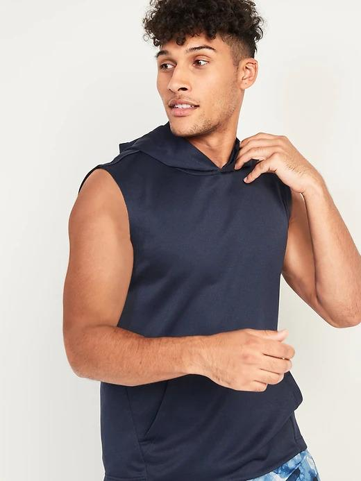 Go-Dry Sleeveless French Terry Hoodie. Image via Old Navy.