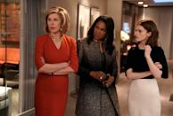 'The Good Wife' alum Christine Baranski, left, Audra McDonald and Rose Leslie star in the CBS All Access spinoff, 'The Good Fight.'