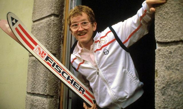 """<span class=""""element-image__caption"""">Eddie 'the Eagle' Edwards was last in the ski jumping at the 1988 Winter Olympics in Calgary, Canada.</span> <span class=""""element-image__credit"""">Photograph: Rex Features</span>"""