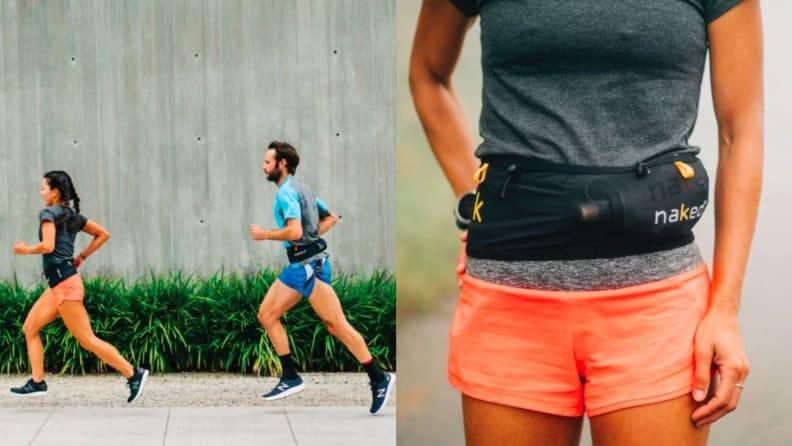 To carry water, nutrition, and anything else while you run, the Naked Band offers stay-put storage.