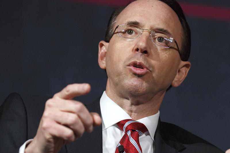 Deputy Attorney General Rod Rosenstein reportedly made comments in spring of 2017 in which he suggested that he covertly record President Donald Trump in the White House. (Joshua Roberts/Reuters)