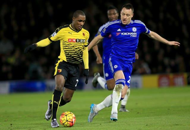 Odion Ighalo played for Watford before moving to China