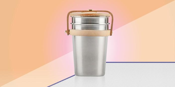 """<div class=""""caption""""> Whether you're out by the campfire or on a sandy beach, these stainless steel cups are the best accessory for a cocktail- or wine-fueled occasion. They'll keep your drink chilled and spare the ocean from one more plastic cup. <a href=""""https://yielddesign.co/products/cup-set"""" rel=""""nofollow noopener"""" target=""""_blank"""" data-ylk=""""slk:SHOP NOW"""" class=""""link rapid-noclick-resp"""">SHOP NOW</a>: Cup set by Yield, $42, yielddesign.co </div> <cite class=""""credit"""">Photo courtesy of Yield</cite>"""