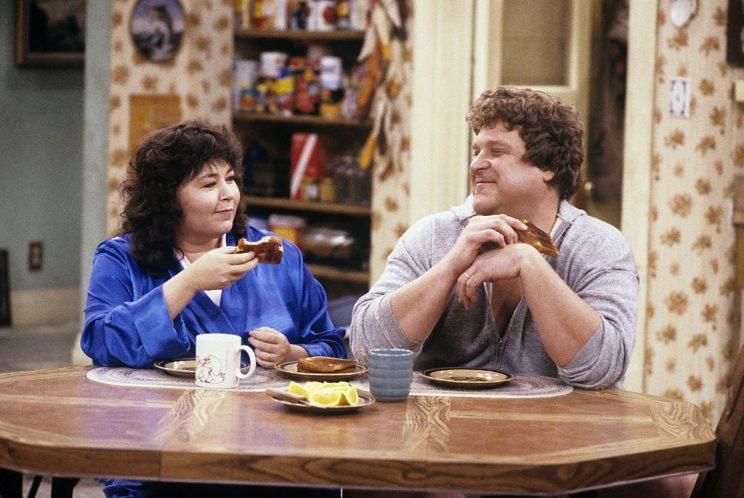 Roseanne Barr as Roseanne Conner and John Goodman as Dan Conner in Roseanne. (Photo: ABC/Getty Images)
