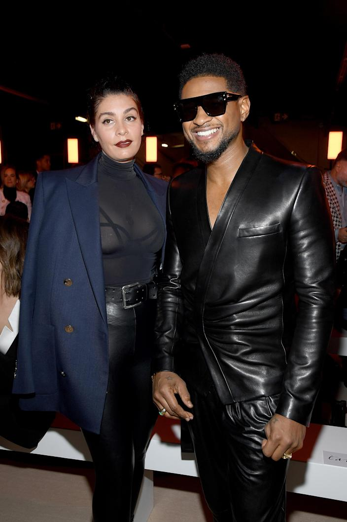 Jenn Goicoechea and Usher (Pascal Le Segretain / Getty Images)