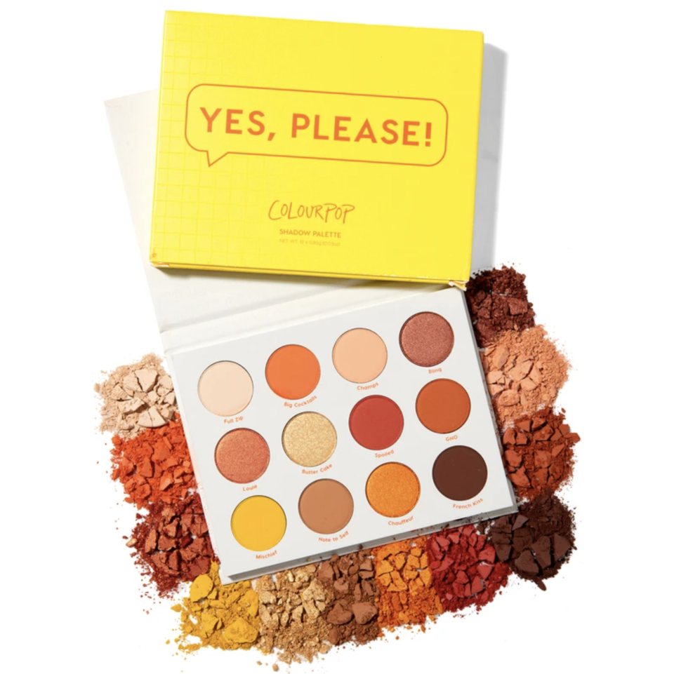 """<p><strong>ColourPop</strong></p><p>colourpop.com</p><p><strong>$13.50</strong></p><p><a href=""""https://go.redirectingat.com?id=74968X1596630&url=https%3A%2F%2Fcolourpop.com%2Fproducts%2Fyes-please-eyeshadow-palette&sref=https%3A%2F%2Fwww.seventeen.com%2Fbeauty%2Fg29487979%2Fbest-eyeshadow-makeup-palettes%2F"""" rel=""""nofollow noopener"""" target=""""_blank"""" data-ylk=""""slk:Shop Now"""" class=""""link rapid-noclick-resp"""">Shop Now</a></p><p>For those who love that warm, sun-kissed eye look, this palette is about to become your go-to. This adorable pan has everything you need to create a ~~golden hour glow~~.</p>"""