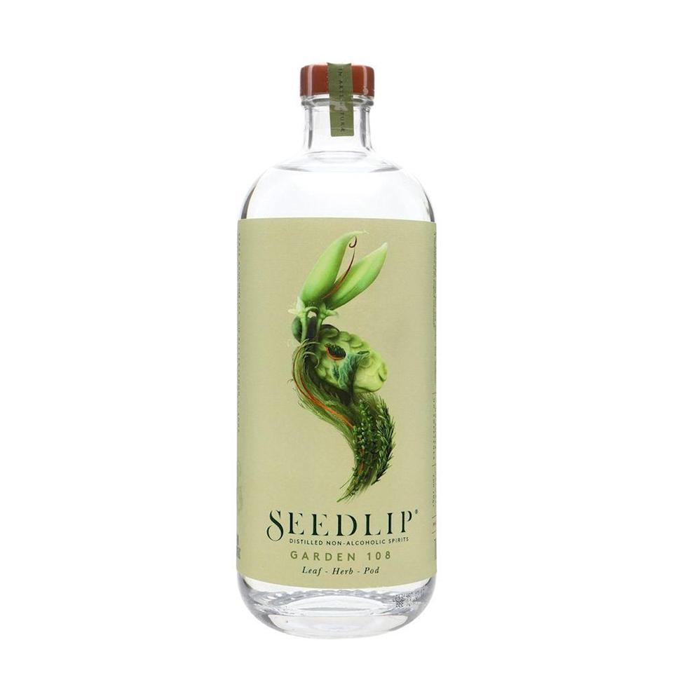 """<p><strong>Seedlip</strong></p><p>amazon.com</p><p><strong>$34.99</strong></p><p><a href=""""https://www.amazon.com/dp/B01GTQPI64?tag=syn-yahoo-20&ascsubtag=%5Bartid%7C2089.g.28787971%5Bsrc%7Cyahoo-us"""" rel=""""nofollow noopener"""" target=""""_blank"""" data-ylk=""""slk:Shop Now"""" class=""""link rapid-noclick-resp"""">Shop Now</a></p><p>One of the many delicious Seedlip flavors currently on the market, Garden 108 is truly <a href=""""https://www.bestproducts.com/eats/drinks/a28764414/seedlip-nonalcoholic-spirit-review/"""" rel=""""nofollow noopener"""" target=""""_blank"""" data-ylk=""""slk:a special spirit"""" class=""""link rapid-noclick-resp"""">a special spirit</a> (distilled without alcohol, of course). An herbaceous blend reminiscent of gin's botanical structure and aroma, this nonalcoholic drink tastes like garden-fresh sweet peas, basil, and mint.</p><p>Try Seedlip on the rocks with a splash of sparkling or tonic water and a fresh mint sprig. Then thank us later.</p>"""