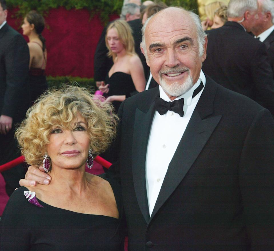 Connery with wife Micheline at the 2004 Oscars; he won his own statuette for the 1987 film The Untouchables. (Photo: Frank Micelotta/Getty Images)
