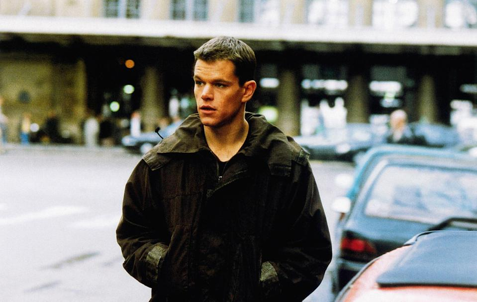 """<p>Matt Damon is the titular character, Jason Bourne, in this first installment of the popular <em>Bourne</em> franchise. Based on Robert Ludlum's novel of the same name, the movie is about a man (Bourne) who has experienced extreme memory loss and slowly begins to realize that he is a highly trained operative. As expected, a lot of action ensues.</p> <p><a href=""""https://www.amazon.com/Bourne-Identity-Matt-Damon/dp/B000Q76K1A"""" rel=""""nofollow noopener"""" target=""""_blank"""" data-ylk=""""slk:Available to rent on Amazon Prime Video"""" class=""""link rapid-noclick-resp""""><em>Available to rent on Amazon Prime Video</em></a></p>"""