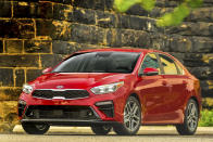 This undated photo provided by Kia Motors America shows the 2022 Kia Forte, a small sedan that offered an average savings of about 9% in August. (Kia Motors via AP)