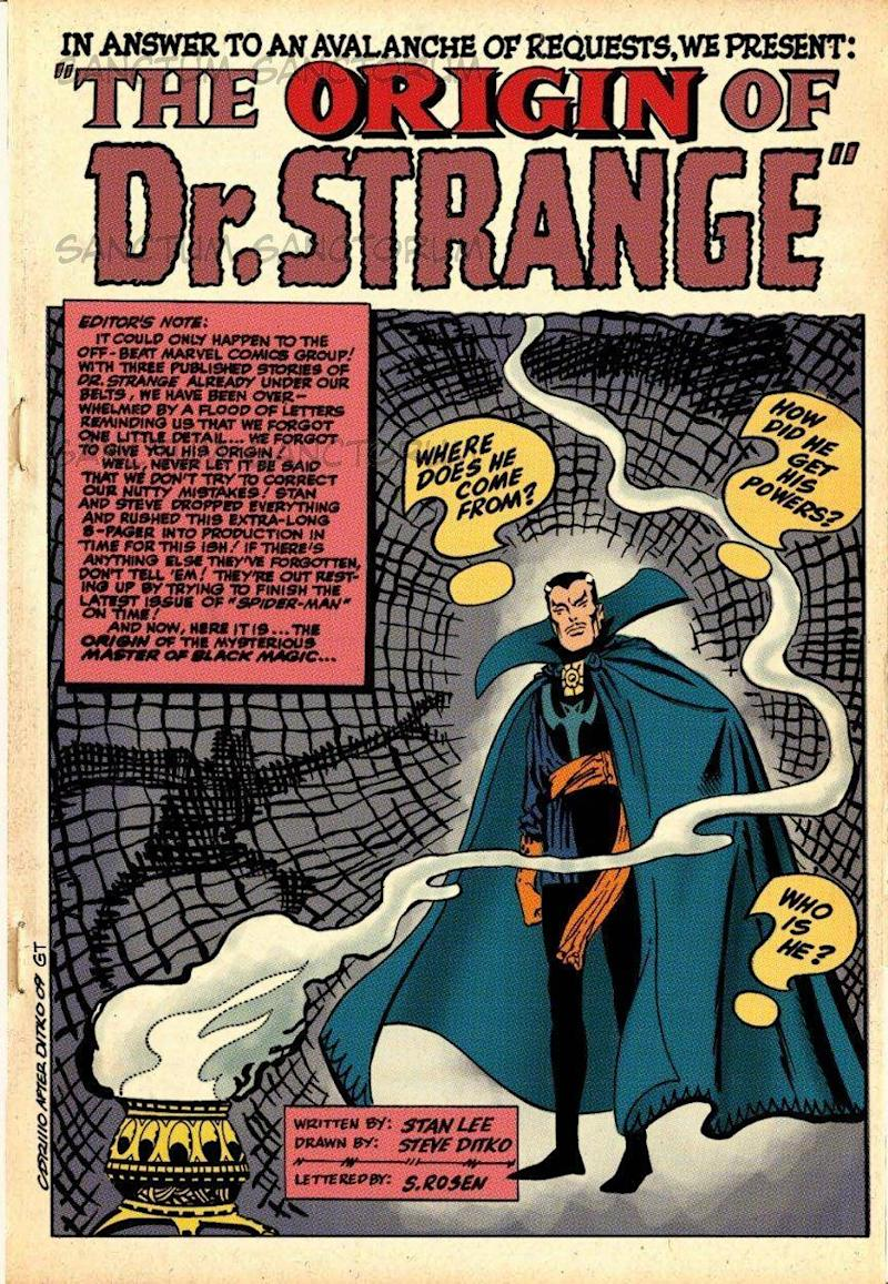 Another of Ditko's creations Doctor Strange was made into a film of the same name in 2016