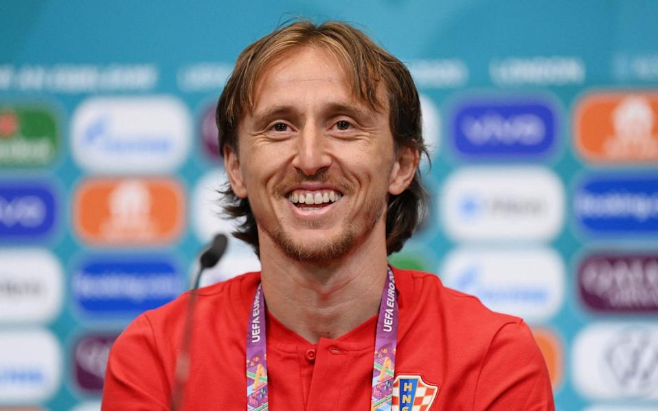 Modric speaks to the press ahead of the game - AFP