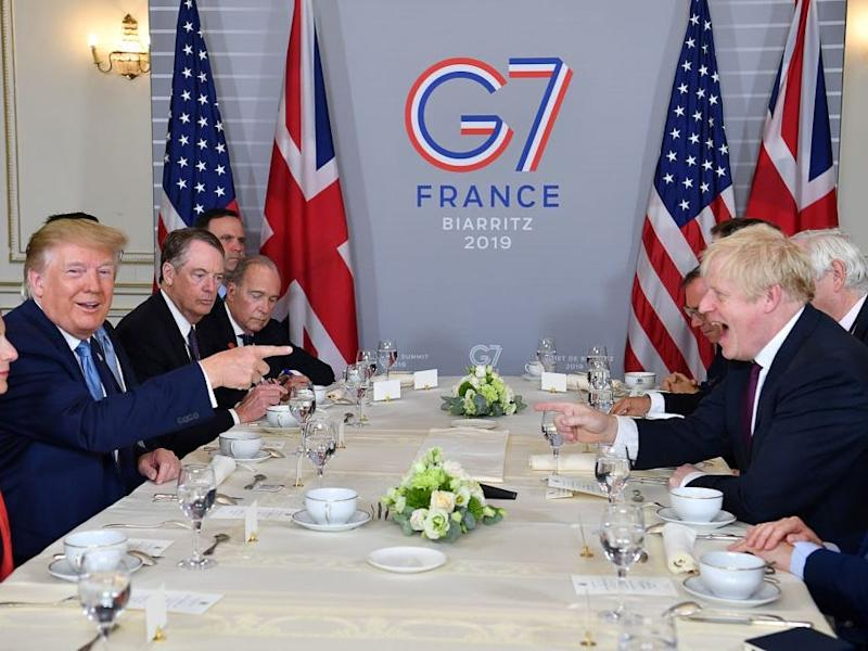 boris johnson trump g7