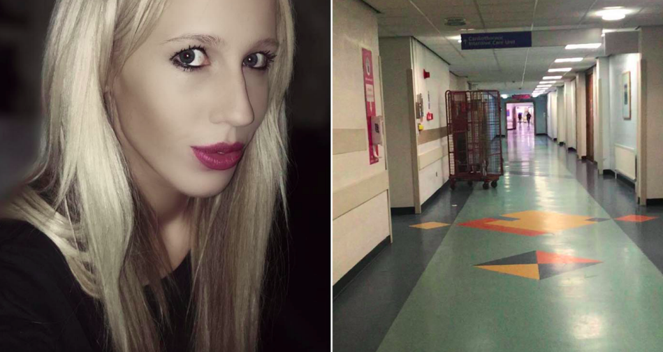 Hannah Dean has been banned from visiting hospitals after posting photos of empty wards. (Facebook)