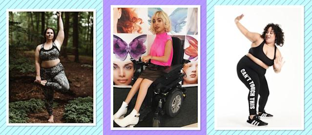 <p>Follow these champions of body-positivity for an instant dose of style and confidence. (Photo: Instagram/nolatrees, jillianmercado, curveswithmoves) </p>