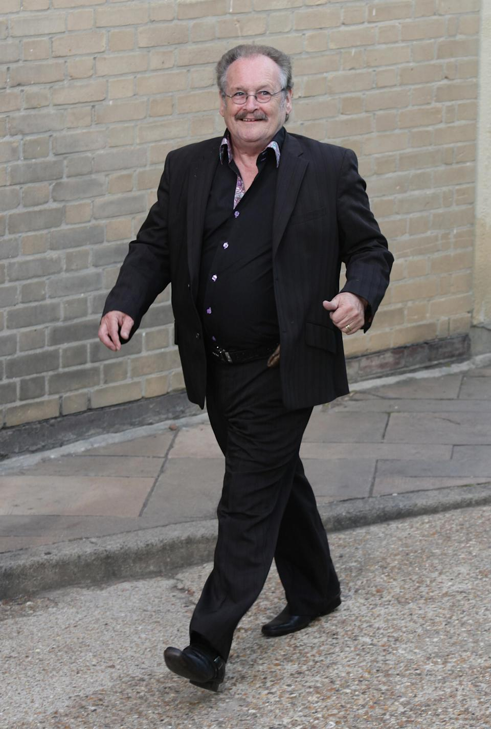 File photo dated 05/06/10 of Bobby Ball of Cannon and Ball arriving for the final of Britain's Got Talent, at The Fountain Studios in Wembley, north London. Bobby Ball, one half of the comedy double act Cannon and Ball, has died at the age of 76 after testing positive for Covid-19, his manager has said.