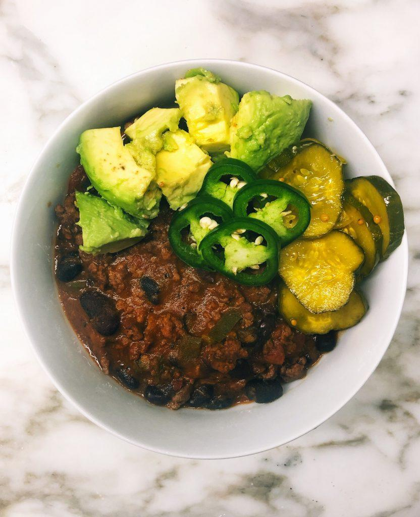 @FreckledFoodie's beef chili. (Credit: Cameron Rogers)