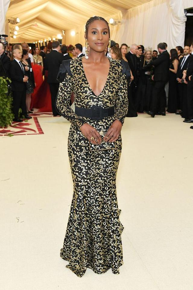 <p>Issa Rae looks calm, cool, and collected in this Michael Kors look. (Photo: Getty Images) </p>