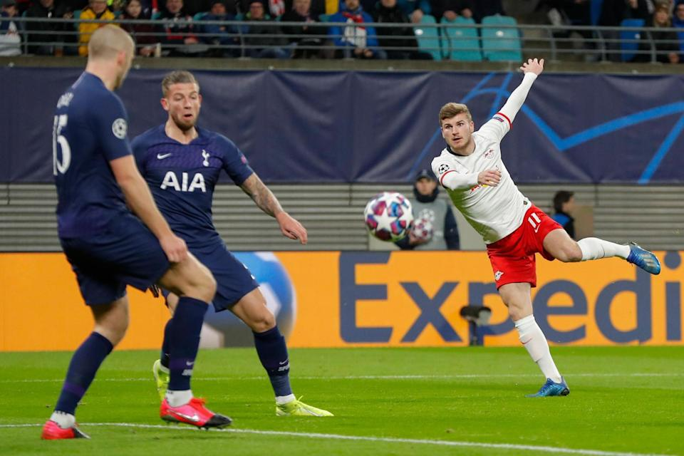 Impression: Werner scored in the first leg against Tottenham  Photo: AFP via Getty Images