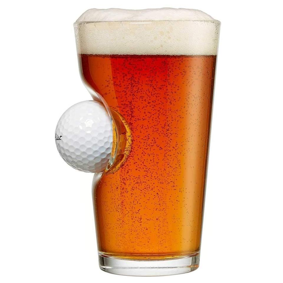<p>If you know a golfer, they'll love this <span>BenShot Pint Glass with Real Golf Ball</span> ($26).</p>