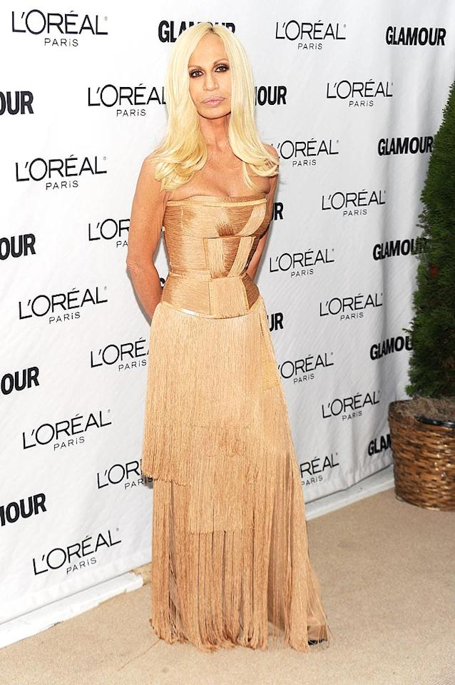 "Donatella Versace, your lips are starting to overwhelm your face. Just sayin'. Dimitrios Kambouris/<a href=""http://www.wireimage.com"" target=""new"">WireImage.com</a> - November 8, 2010"