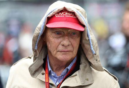 Britain Formula One - F1 - British Grand Prix 2016 - Silverstone, England - 10/7/16 Mercedes' non executive chairman Niki Lauda during the race REUTERS/Matthew Childs Livepic