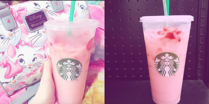 The Pink Drink Is Now On Starbucks Official Menu