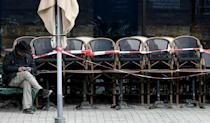 A shut cafe in Munich, Germany. Countries are relying on vaccines to tame the pandemic, but some Germans have shunned the AstraZeneca jab after confusion over guidance for administering it