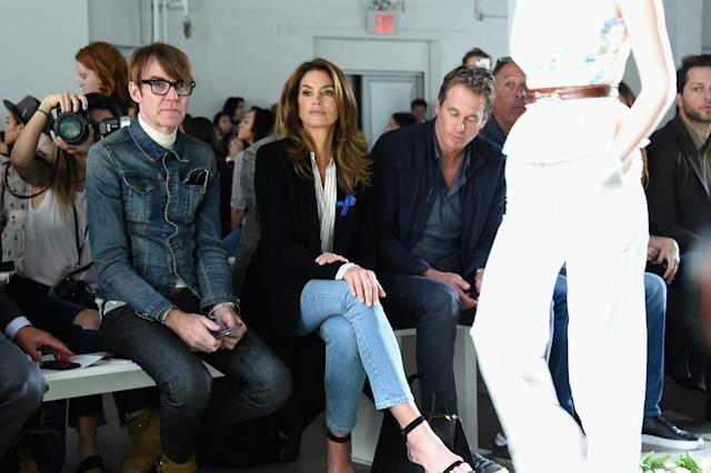 <p>Model Cindy Crawford and husband Rande Gerber attend the Brock Collection fashion show during New York Fashion Week Presented By MADE at Gallery 2, Skylight Clarkson Sq on September 7, 2017 in New York City. (Photo by Michael Loccisano/Getty Images Fro NYFW: The Shows) </p>