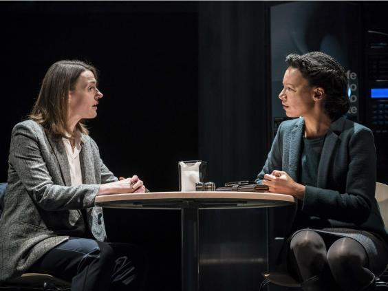 Suranne Jones and Nina Sosanya in 'Frozen' at the Theatre Royal Haymarket, 2018 (Johan Persson)