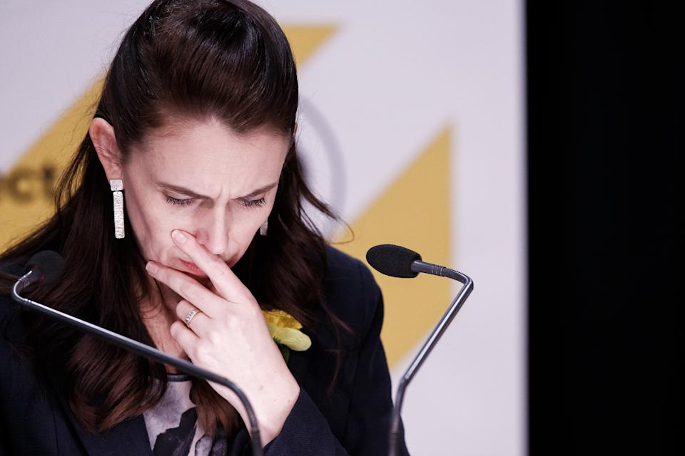 Prime minister Jacinda Ardern hold out hope the nation can extinguish the Delta outbreak. Source Getty
