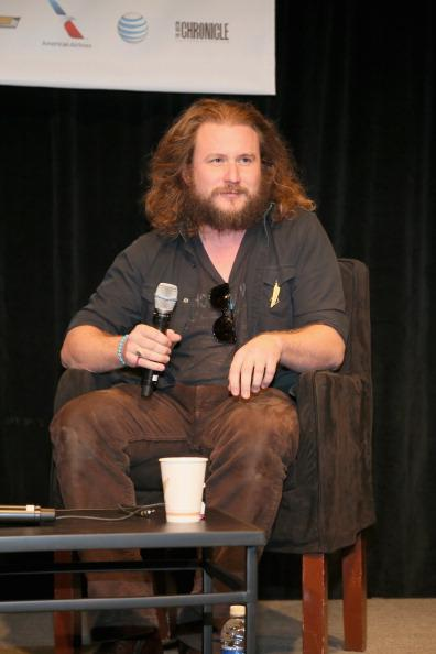Jim James of My Morning Jacket speaks at the Austin Convention Center during the South By Southwest Music Festival on March 13, 2013 in Austin, Texas.