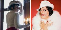 """<p>With a background on Broadway (and credits including <em>In the Heights</em> and <em>Spring Awakening</em>), <em>Smash</em> alum Krysta Rodriguez might need an introduction for some viewers, but Liza Minnelli certainly does not. The daughter of Judy Garland, the legendary performer is perhaps best known for her Oscar-winning role in <em>Cabaret</em>. She was also a close friend of Halston's, serving as his muse and confidant. """"His clothes danced with you,"""" Minnelli <a href=""""https://www.vanityfair.com/hollywood/2021/05/halston-liza-minnelli-netflix"""" rel=""""nofollow noopener"""" target=""""_blank"""" data-ylk=""""slk:once said"""" class=""""link rapid-noclick-resp"""">once said</a> of the designer. """"We were joined at the hip from then on.""""</p>"""