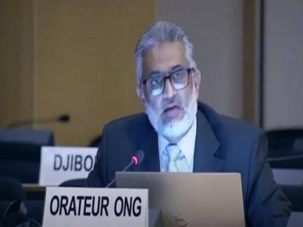Activist Sajjad Raja speaking at 45th Session of the UN Human Rights Council in Geneva