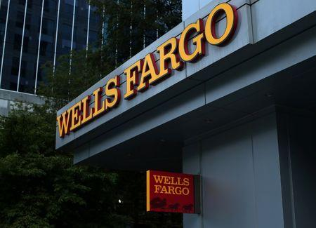 A Wells Fargo Bank is shown in Charlotte, North Carolina