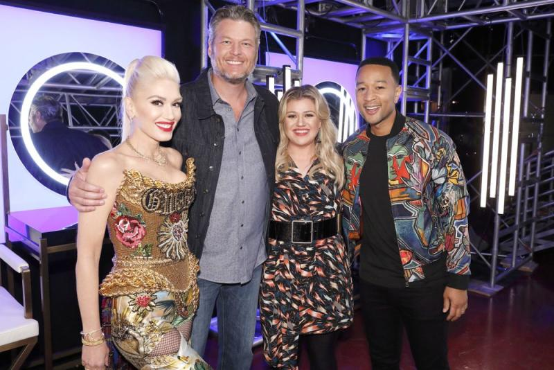 Voice coaches Gwen Stefani, Blake Shelton, Kelly Clarkson and John Legend | Trae Patton/NBC/NBCU Photo Bank via Getty Images