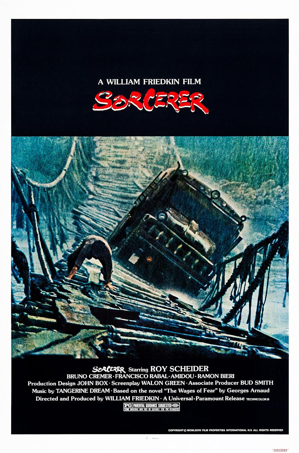 Sorcerer, poster, US poster art, 1977. (Photo by LMPC via Getty Images)