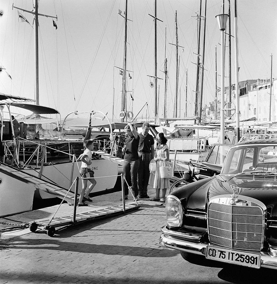 """<p>Many a playboy would visit Saint-Tropez in the summer. But it wasn't just for the boys—Brigitte Bardot would often be seen on a boat here and there. Hotels like <a href=""""https://www.messardiere.com/en/"""" rel=""""nofollow noopener"""" target=""""_blank"""" data-ylk=""""slk:Château de la Messardière"""" class=""""link rapid-noclick-resp"""">Château de la Messardière </a>charmed and are still charming visitors today. </p>"""