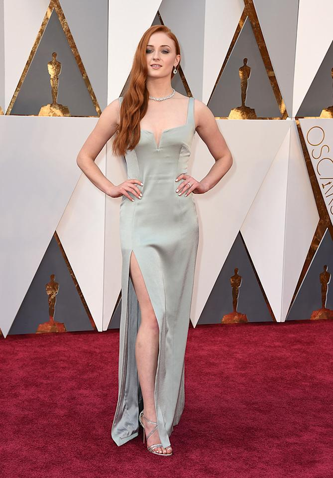 Sophie Turner attends the 88th Annual Academy Awards at the Dolby Theatre on February 28, 2016, in Hollywood, California.