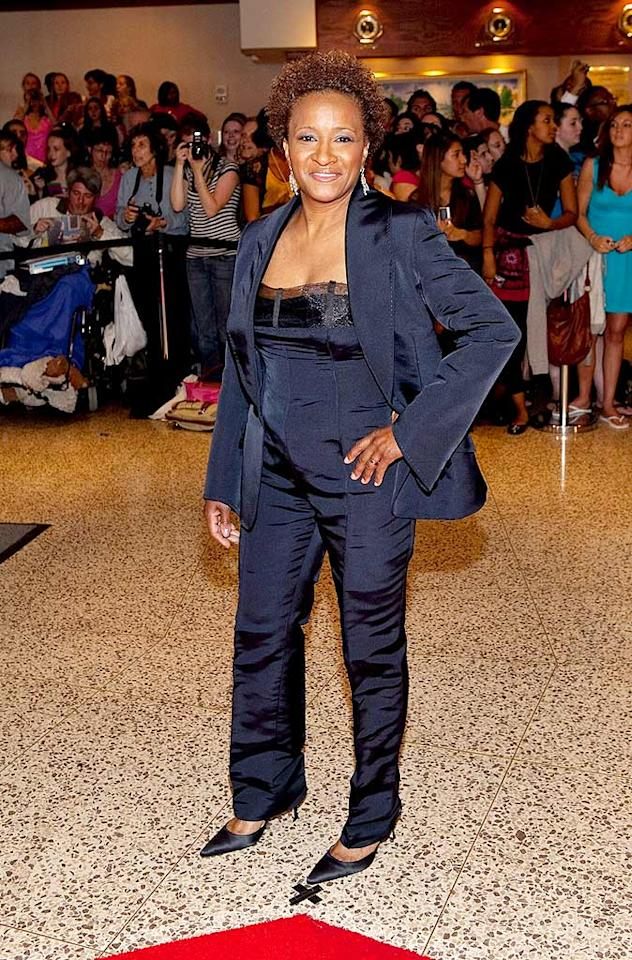 "Normally, we're a fan of women in pantsuits, but comedienne Wanda Sykes' jumpsuit/jacket combo was not flattering. Paul Morigi/<a href=""http://www.wireimage.com"" target=""new"">WireImage.com</a> - May 9, 2009"