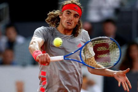 Tennis - ATP 1000 - Madrid Open - The Caja Magica, Madrid, Spain - May 11, 2019 Greece's Stefanos Tsitsipas in action during his semi final match against Spain's Rafael Nadal REUTERS/Susana Vera