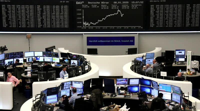 European shares rebound from early losses as U.S.-Iran tensions ebb