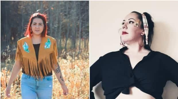 Nesta Hager (left) and Kayla Mintz (right) are Yukon-based TikTok content creators. They say they're using the social media platform to break Indigenous stereotypes and find community. (Submitted by Nesta Hager, Kayla Mintz - image credit)