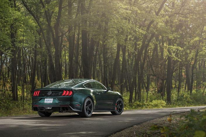 "<p>We never did stop liking the Mustang's remastered mid-century look and modern performance. The GT's newly available MagneRide electronically adaptive shocks from the GT350, more powerful V-8, and two Performance packages edging it closer to the Shelby's track-worthiness push it over the finish line. The base EcoBoost four-cylinder engine remains unworthy of the rest of the Mustang and our 10Best list.There are no asterisks needed for <a href=""https://www.caranddriver.com/reviews/a23147858/2019-ford-mustang-bullitt-by-the-numbers/"" rel=""nofollow noopener"" target=""_blank"" data-ylk=""slk:the Bullitt edition"" class=""link rapid-noclick-resp"">the Bullitt edition</a>, Ford's nostalgia-soaked half-gallop between the GT and the Shelby GT350 that shares in the former's award for 2019. Highland Green paint (black also is available) and Torq Thrust–style wheels pay homage to a certain '68 Mustang GT390, while cohesive chassis tuning and the Shelby's larger throttle body unlocking an extra 20 horsepower from the Coyote V-8 elevate the package beyond retro fetishism. At 7000 rpm, where all of the Bullitt's 480 ponies gallop at once, the noise belted through the active exhaust is riveting enough to excuse the driver's McQueen cosplaying.</p>"