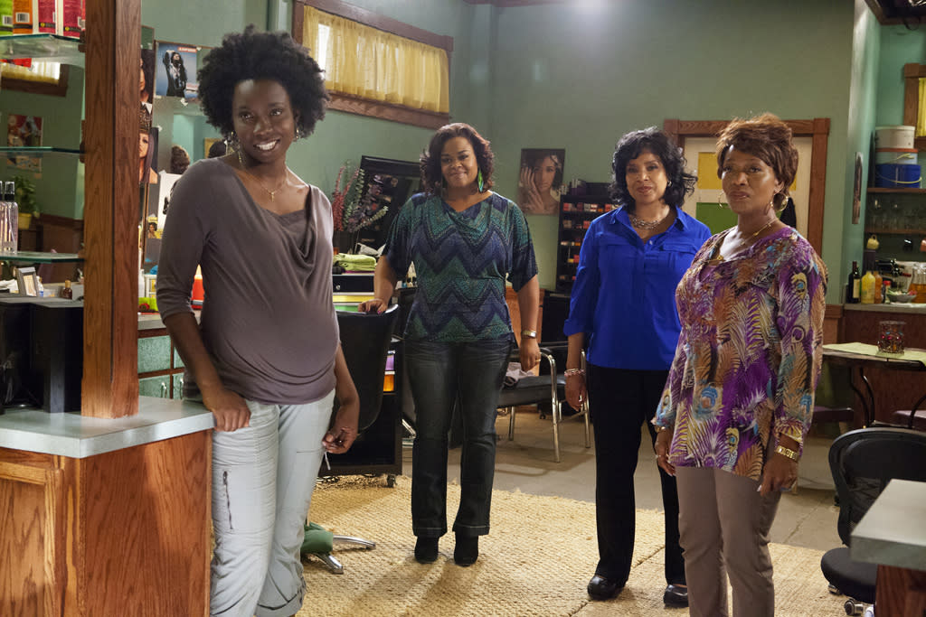 "Adepero Oduye (""Annelle""), Jill Scott (""Truvy""), Phylicia Rashad (""Clariee"") and Alfre Woodard (""Ouiser"") star in the all-new Lifetime Original Movie, ""Steel Magnolias."""
