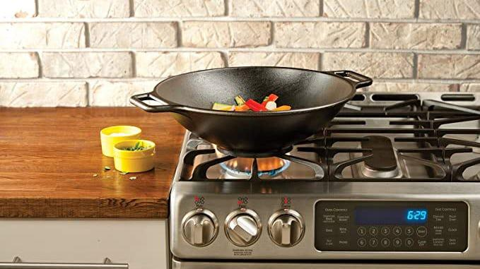 This cast-iron wok is one of our favorites.