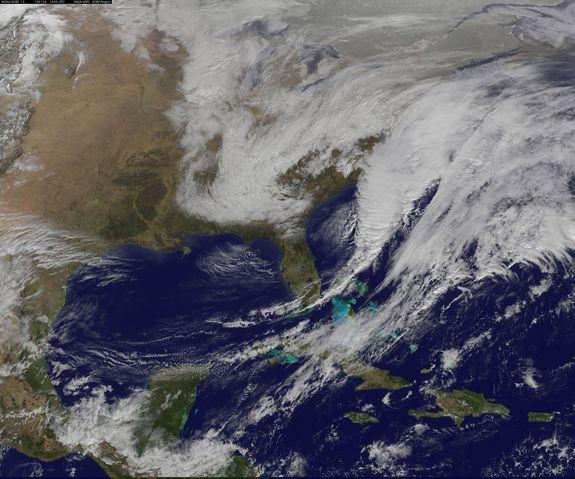 Monster Winter Storm Spotted from Space (Photo, Video)