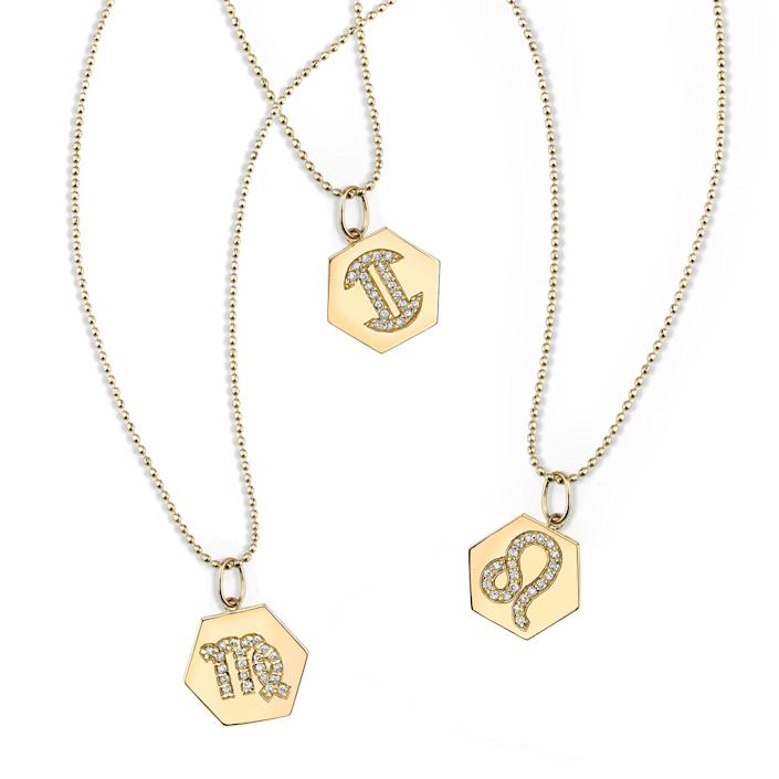 """<h2><a href=""""https://www.sydneyevan.com/yellow-gold-diamond-zodiac-charm-necklace"""" rel=""""nofollow noopener"""" target=""""_blank"""" data-ylk=""""slk:Sydney Evans Diamond Zodiac Charm Necklace"""" class=""""link rapid-noclick-resp"""">Sydney Evans Diamond Zodiac Charm Necklace</a></h2> <br>Let your favorite Sag broadcast their star sign to the world with a diamond-studded necklace. The fire in the stones are a perfect match for the fire sign, and the high-quality piece never has to be taken off. (A good thing, since your friend won't want to.)<br><br><strong>Sydney Evan</strong> Diamond Zodiac Charm Necklace, $, available at <a href=""""https://www.sydneyevan.com/yellow-gold-diamond-zodiac-charm-necklace"""" rel=""""nofollow noopener"""" target=""""_blank"""" data-ylk=""""slk:Sydney Evan"""" class=""""link rapid-noclick-resp"""">Sydney Evan</a><br>"""