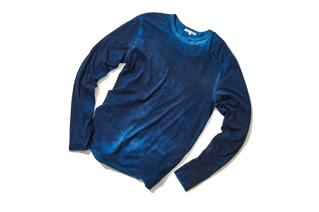 "$90, Cotton Citizen. <a href=""https://cottoncitizen.com/products/crewneck-shirt-navy-1"">Get it now!</a>"